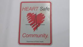 "Image of a ""Heart Safe"" Sign"