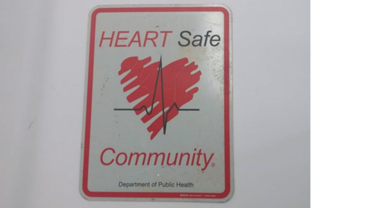 """Picture of a """"Heart Safe"""" Sign"""