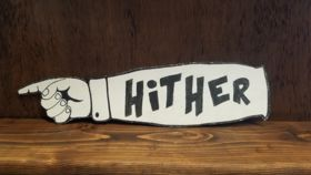 "Image of a ""Hither"" Sign"