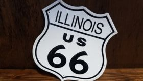 "Image of a ""Illinois Route 66"" Sign"
