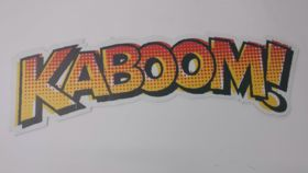 "Image of a ""Kaboom!"" Sign"