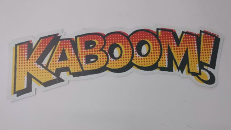 """Picture of a """"Kaboom!"""" Sign"""
