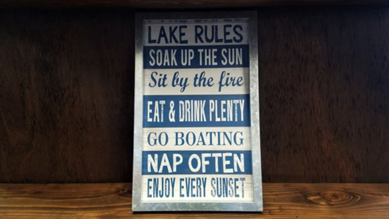"Picture of a ""Lake Rules"" Sign"