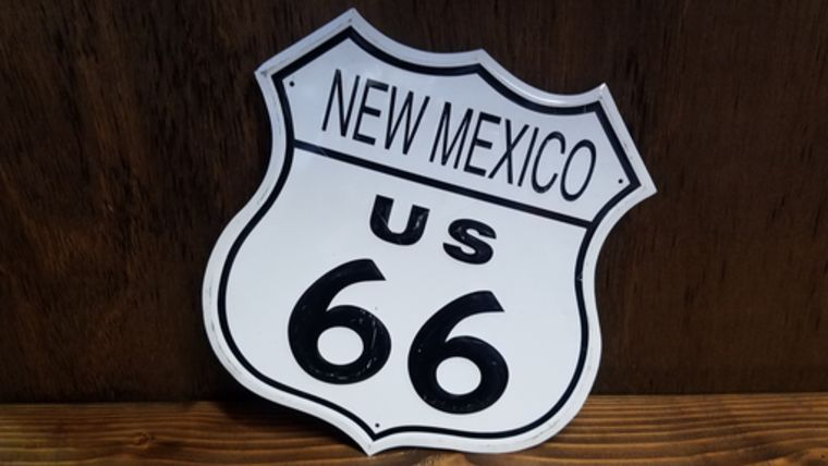 """Picture of a """"New Mexico Route 66"""" Sign"""