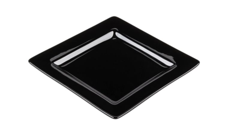 Picture of a Black Square Salad Plate