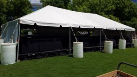 Image of a 20' x 40' White Frame Tent