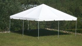 Image of a 20' x 20' White Frame Tent
