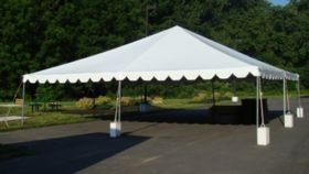 Image of a 30' x 30' White Frame Tent