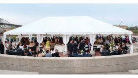 Image of a 30' x 50' White Frame Tent