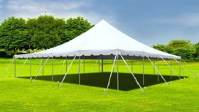 Image of a 40' x 60' White Frame Tent