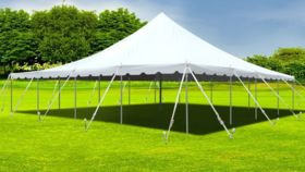 Image of a 40' x 80' White Frame Tent