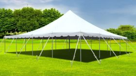Image of a 40' x 100' White Frame Tent