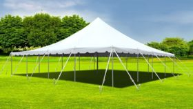 Image of a 40' x 120' White Frame Tent