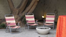 Image of a Multicolored Beach Chair