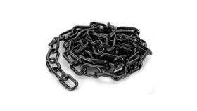 Image of a Black Chain Rope, 6'