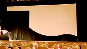 Image of a 30' x 12' White Oklahoma Spandex Piece