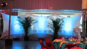 Image of a 8' x 30' White Spandex Canopy