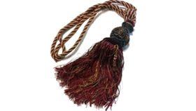 Image of a Burgundy Drape Tassel Drape