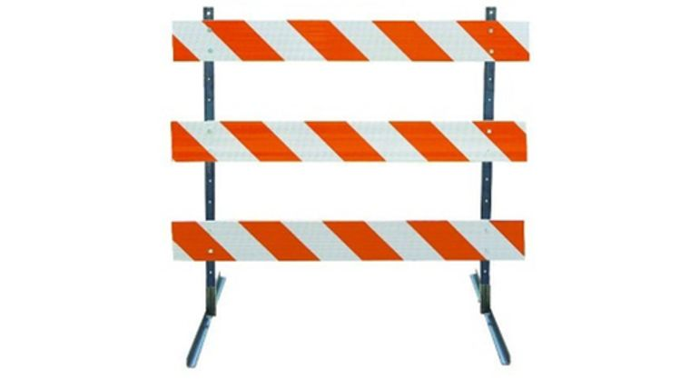 Picture of a 6' Barricade