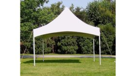 Image of a 10' x 10' White High Peak Tent