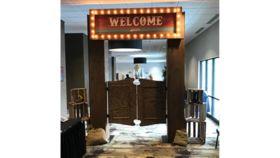 Image of a Saloon Door Entrance Wooden Pieces