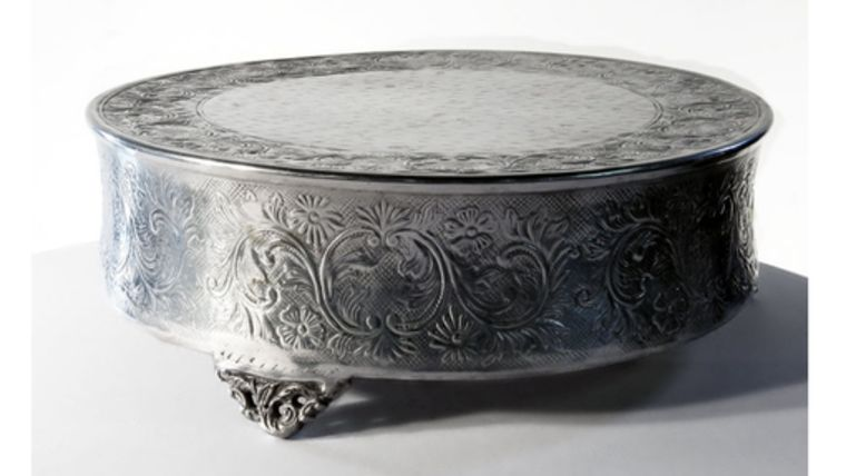"""Picture of a Aluminum Cake Stand, 18"""""""