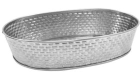 Image of a Oval Stainless Steel Platter