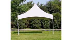 Image of a White High Peak Tent, 10' x 10'