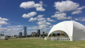 Image of a 27.2' x 27.2' White Crossover Dome Tent