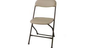 Image of a Bone Samsonite Chair