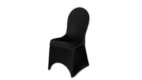 Image of a Black Spandex Chair Covers