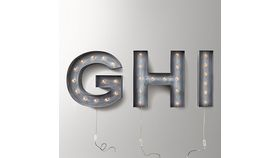 Image of a Vintage Illuminated Letter (H)