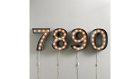 Image of a Vintage Illuminated Number (0)