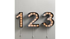 Image of a Vintage Illuminated Number (1)