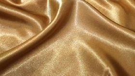 Image of a Dark Gold Satin Drape Panel - 16'