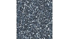 "Image of a 120"" Round Charcoal Sequin Tablecloths"