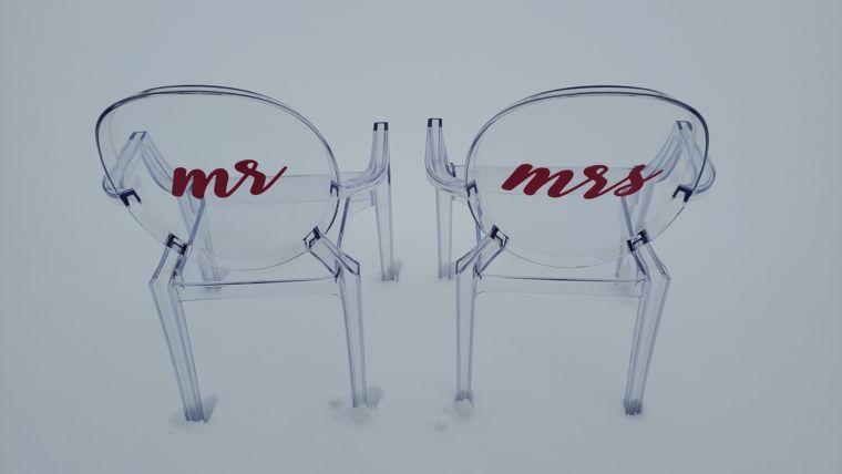 Picture of a Personalized Chair Decal Pair