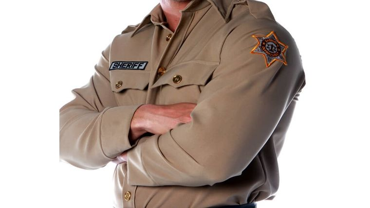 Picture of a Costume Zombie Sheriff Shirt