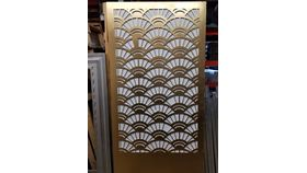 Image of a Gold Deco Wall