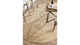 Image of a 3'x5' Oval Jute Rug