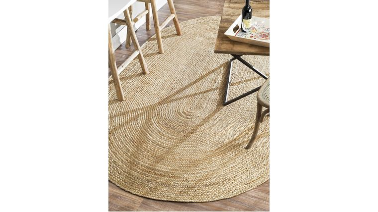 Picture of a 3'x5' Oval Jute Rug