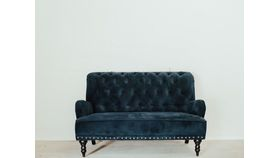 Image of a Blue Velvet Sofa