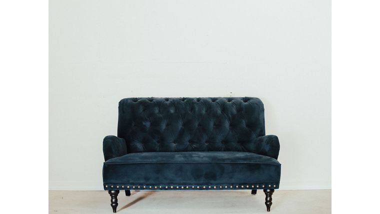 Picture of a Blue Velvet Sofa