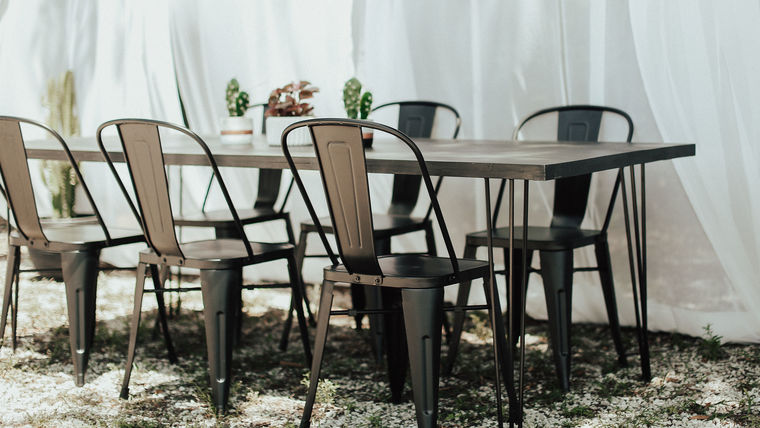 Picture of a Black Modern Dining Table