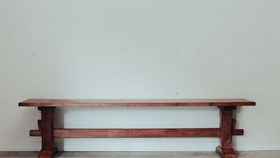 Image of a Long Wood Farmhouse Bench