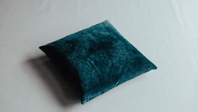 Image of a Velvet Pillow- Turquoise