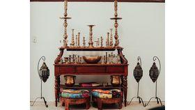 Image of a Ornate Wood Sideboard/Wine bar