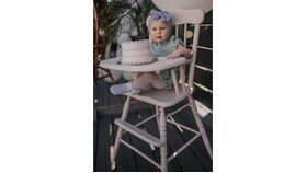 Image of a Vintage Pink High Chair