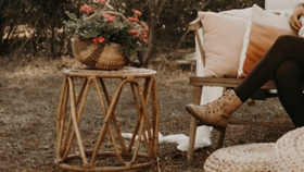 Image of a Rattan Side Table