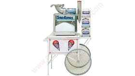 Image of a Snow cone machine cart.